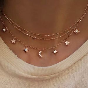 Jewelry - 3 for $25✨3 layer starburst moon star choker